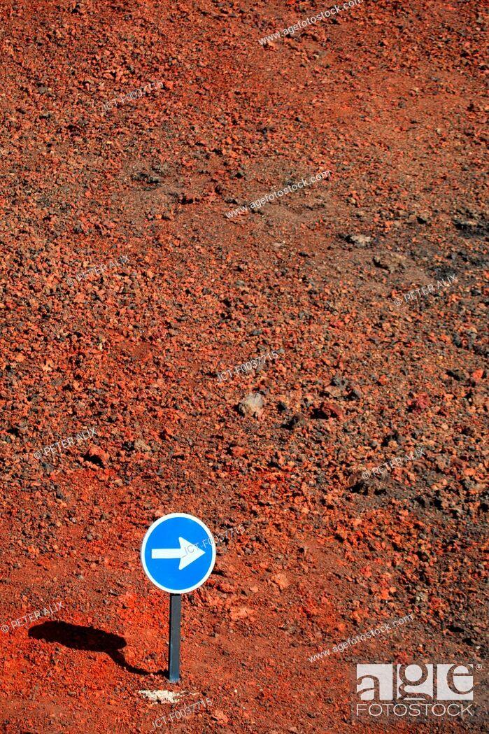Stock Photo: Spain, Canary islands, Lanzarote, National park of Timanfaya.
