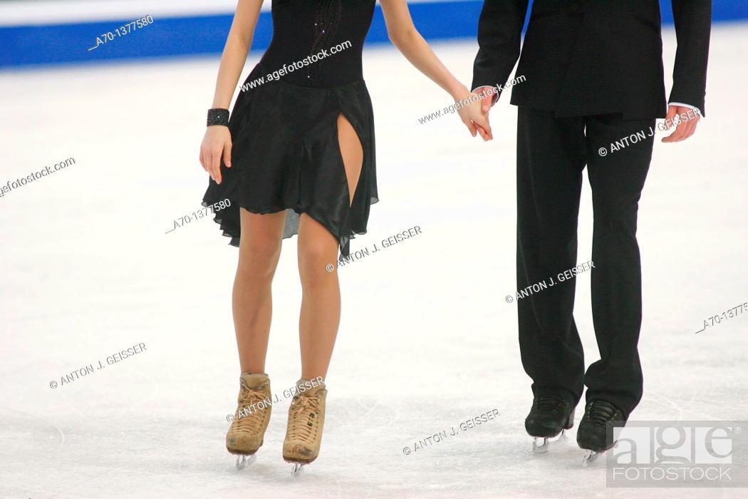 Stock Photo: Female figure skating.