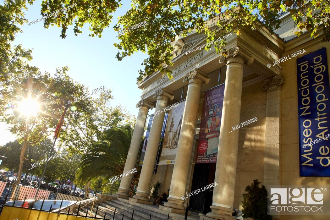 Stock Photo: Museo Nacional de Antropología, Madrid, Spain, Europe.