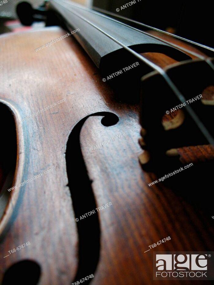 Stock Photo: Old violin.