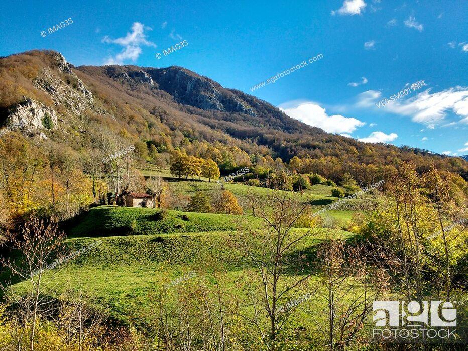 Imagen: Landscape near Pendones village, Redes Natural Park, Asturias, Spain.
