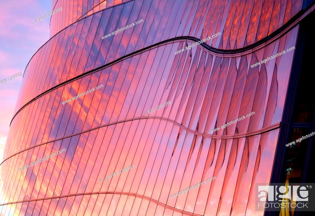 Stock Photo: Iberdrola Tower, Bilbao, Bizkaia, Basque Country, Spain.