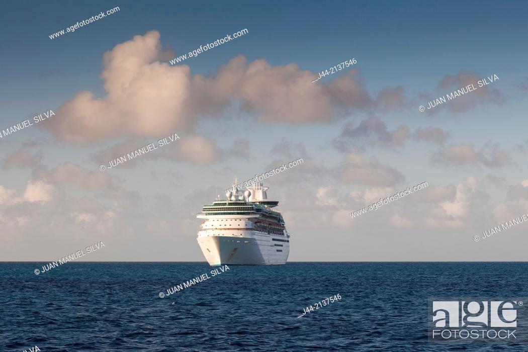 Stock Photo: Cruise ship at sea, The Bahamas.
