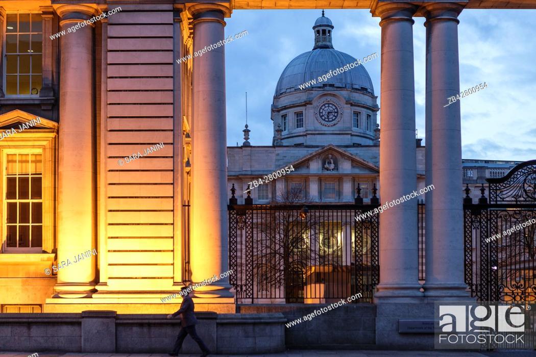 Stock Photo: Government Buildings, Dublin, Ireland, Europe.
