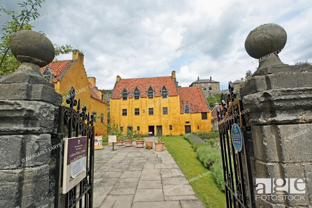 Stock Photo: National Trust for Scotland owned Culross Palace and gardens in the Royal Burgh of Culross Fife Scotland.