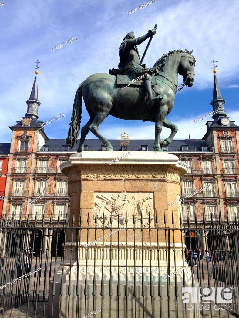 Stock Photo: Madrid, Plaza Mayor.