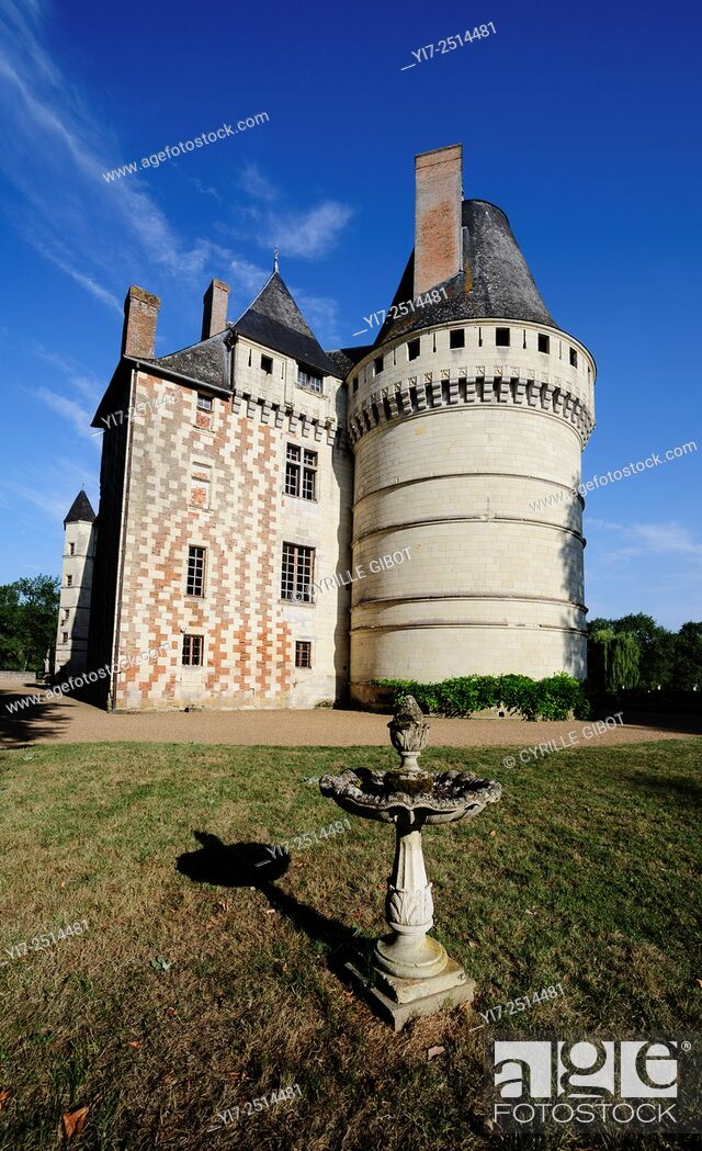 Stock Photo: France, Loire Valley, Indre et Loire, Islette castle, Chateau de l'Islette. The French sculptor Auguste Rodin visited the castle and his lover Camille Claudel.