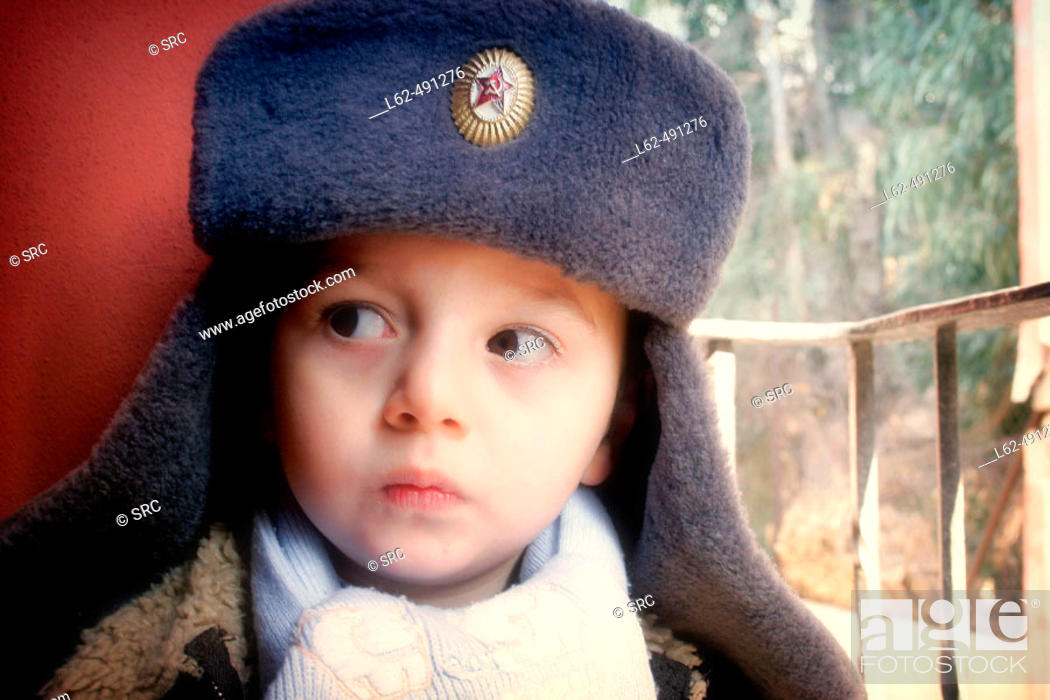 Stock Photo: Boy with a cap.