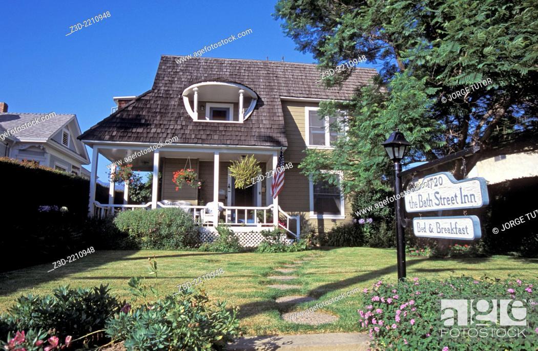 Stock Photo: Bath Street Inn is a Santa Barbara bed and breakfast.