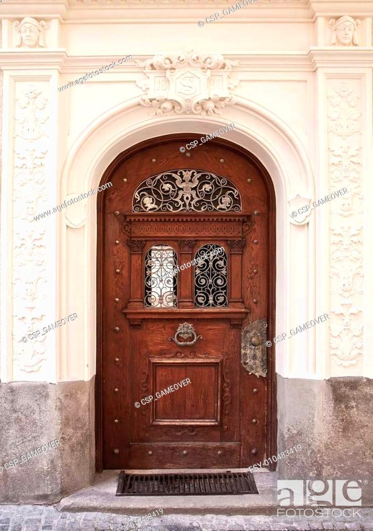 Stock Photo: Beautiful end '800 portal in center Munich.
