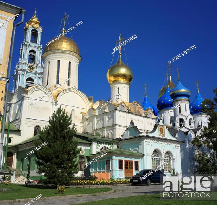 Photo de stock: Trinity Cathedral 1422-1423, Trinity Lavra of St  Sergius, Sergiyev Posad, Moscow region, Russia.