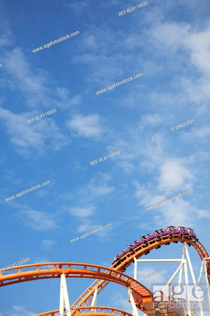 Stock Photo: Rollercoaster at Oktoberfest beer festival, Munich, Germany.