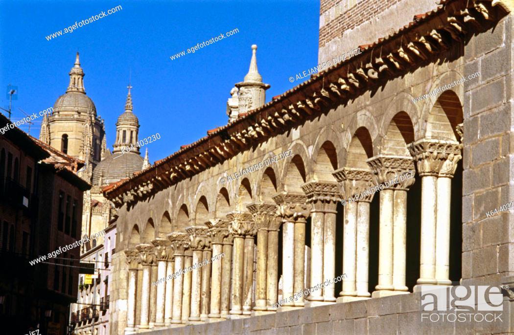 Stock Photo: Church of San Martín, Segovia. Spain.