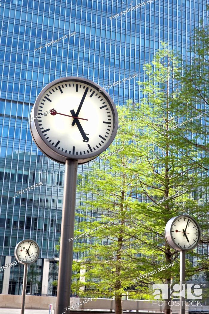 Imagen: Canary Wharf Clocks, London, UK.