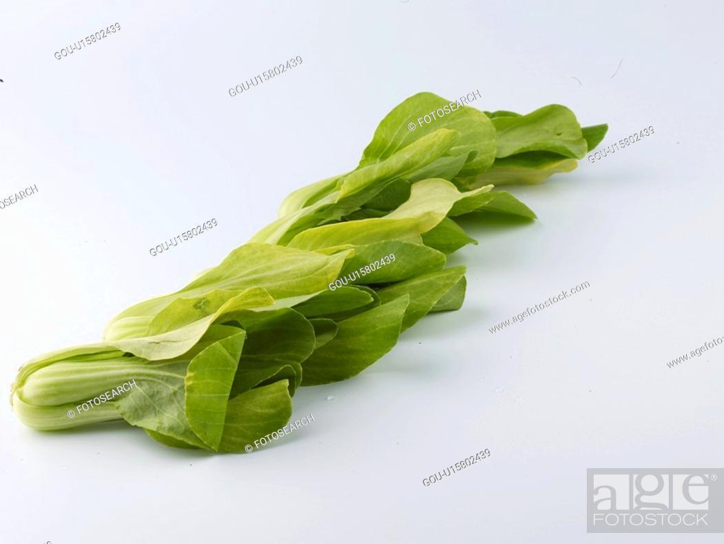 Stock Photo: food material, bok choi, cuisine, food, bok choy, pak choi.