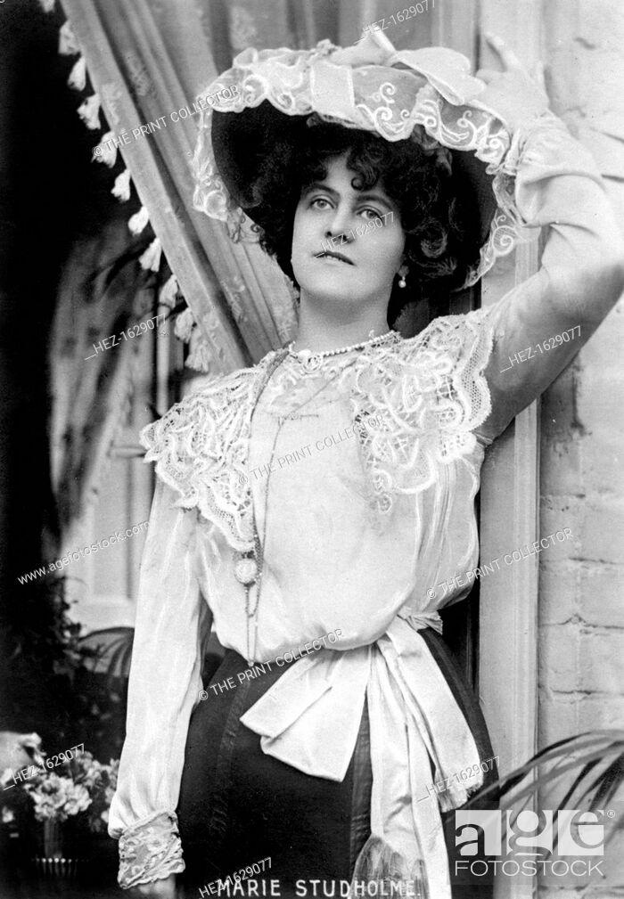 Stock Photo: Marie Studholme (1875-1930), English actress, 1900s.
