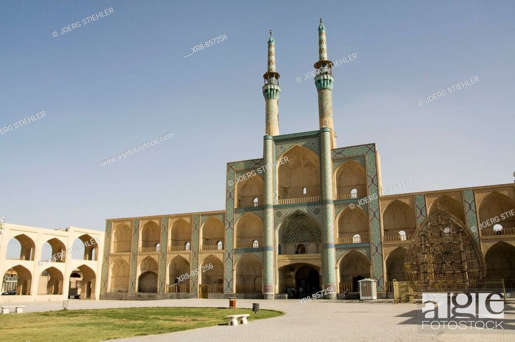 Stock Photo: Iran Yazd Masjed-e Mir Chaqmaq.