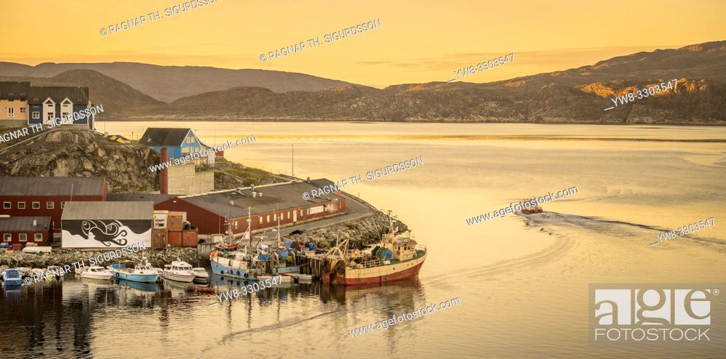 Stock Photo: Harbor, Qaqortoq, Greenland.