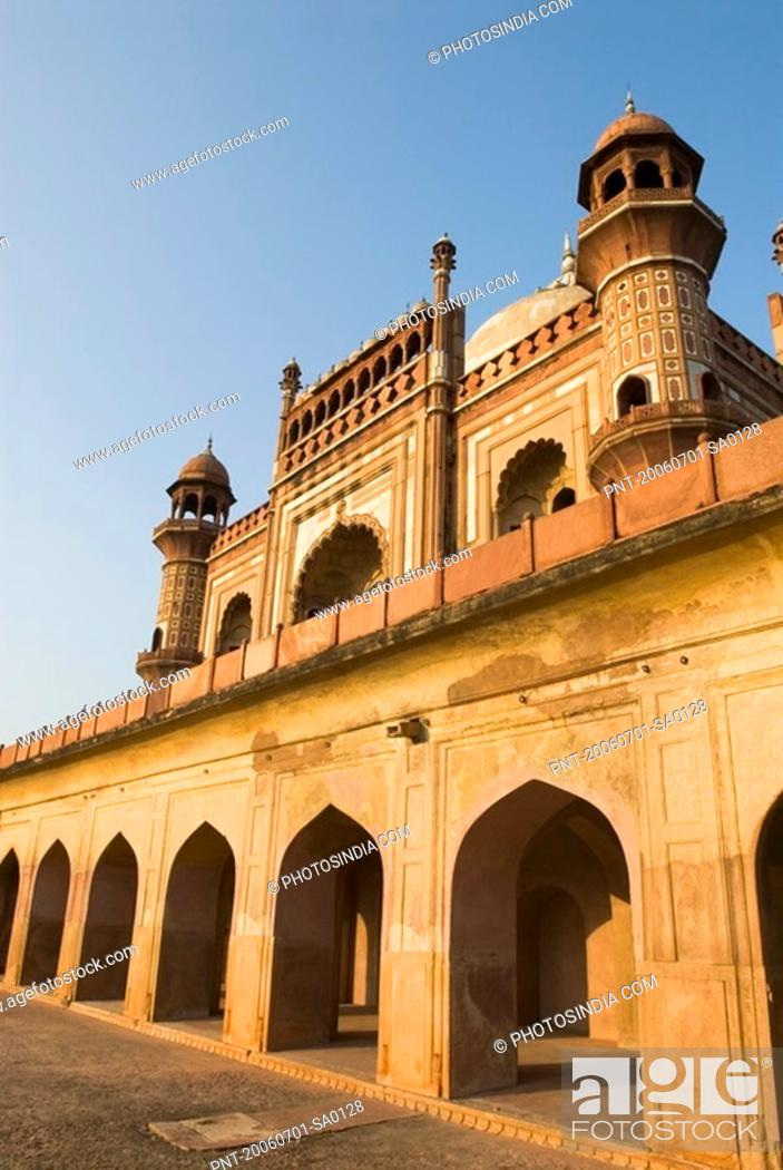 Stock Photo: Low angle view of a monument, Safdarjung Tomb, New Delhi, India.