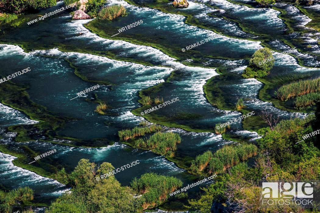 Stock Photo: Roski Slap waterfall, cascades, Krka National Park, Croatia.