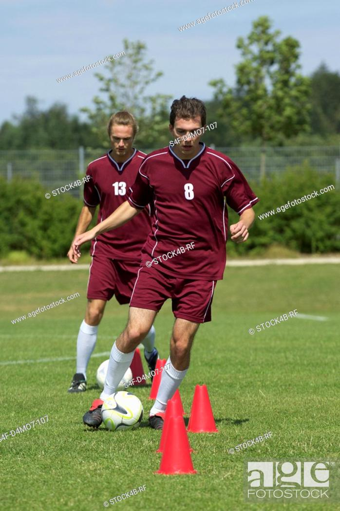 Stock Photo: Kickers exercising.