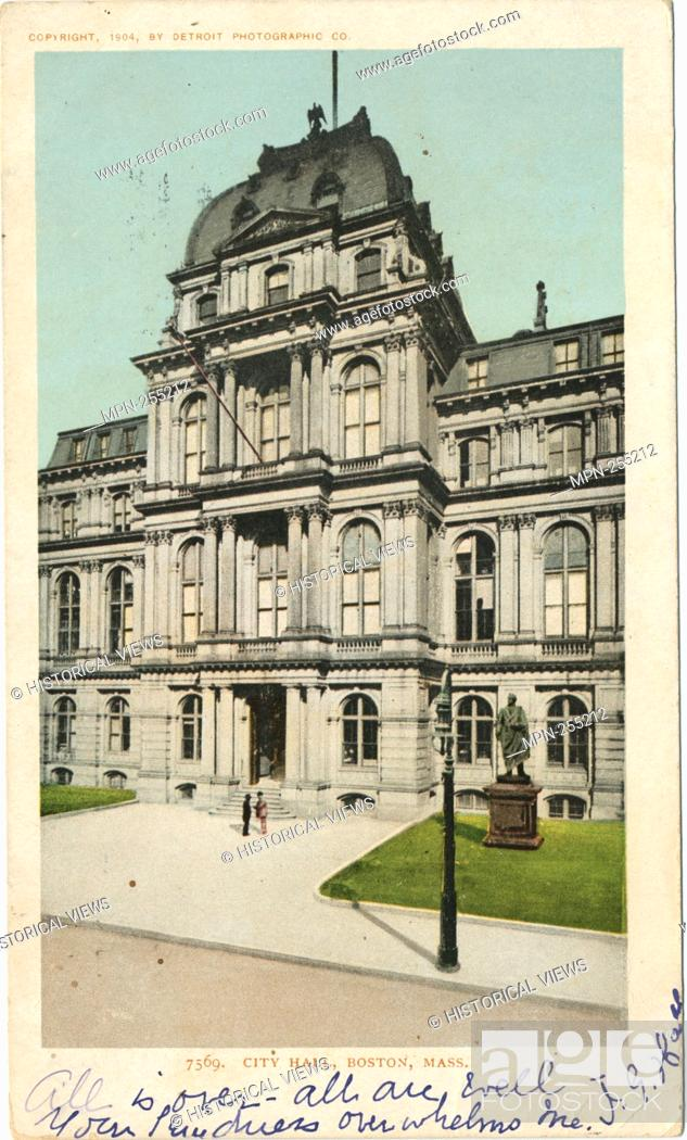 Imagen: City Hall, Boston, Mass. Detroit Publishing Company postcards 7000 Series. Date Issued: 1898 - 1931 Place: Detroit Publisher: Detroit Publishing Company Date.