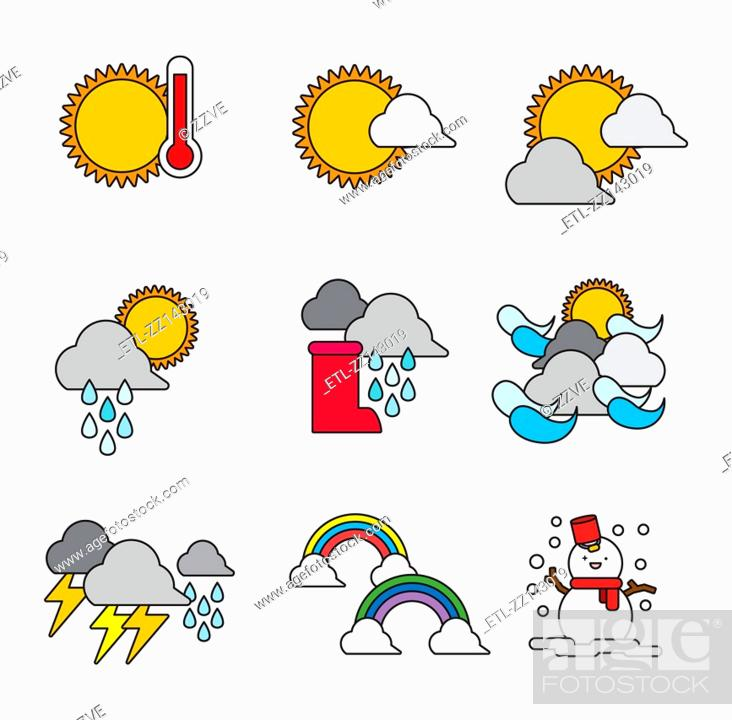 Stock Photo: A variety of weather.