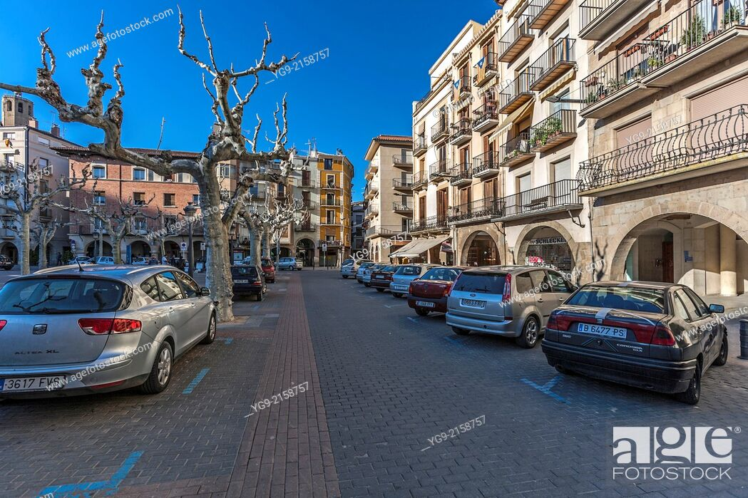 Stock Photo: Mercadal square in Balaguer. LLeida. Spain.