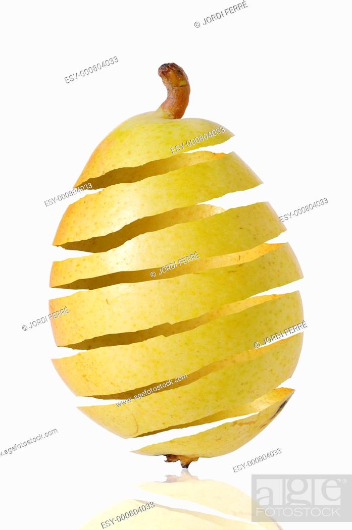 Stock Photo: Pear peel.