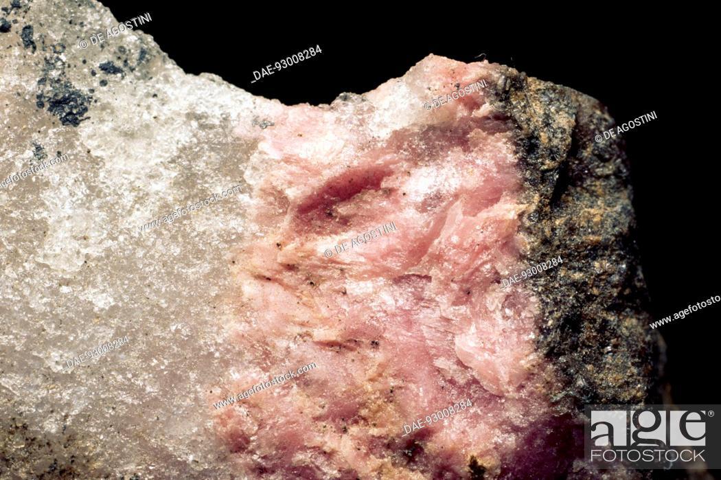 Stock Photo: Thulite, silicate, variety of Zoisite.