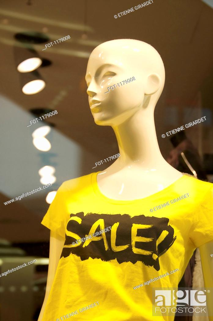 Stock Photo: Mannequin advertising a sale.