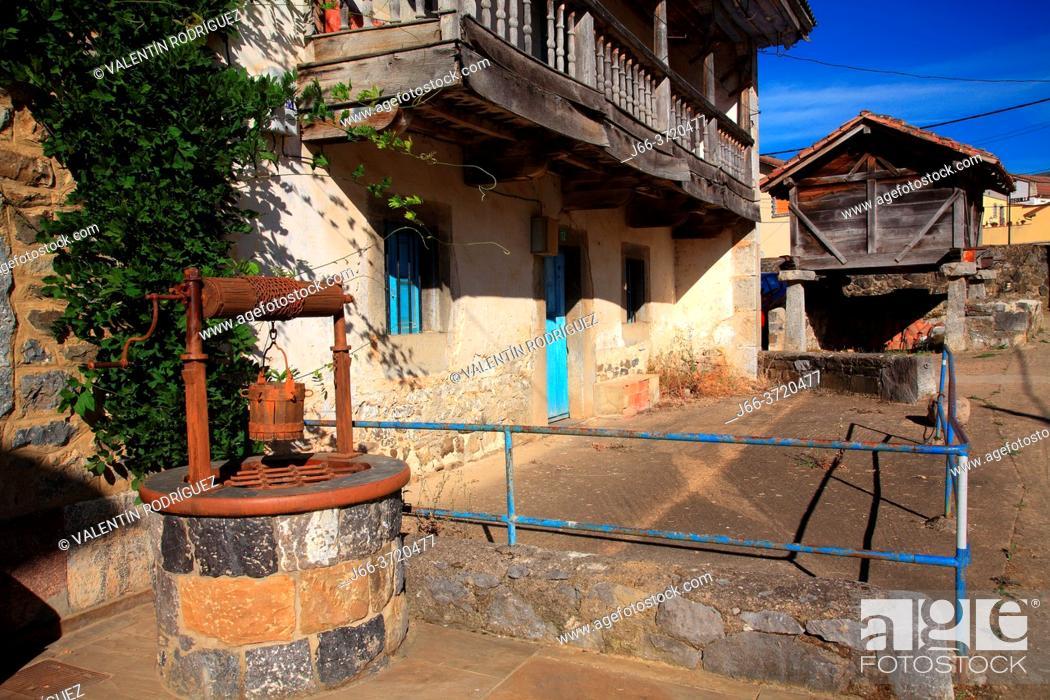 Stock Photo: Posada de Valdeón village. León.