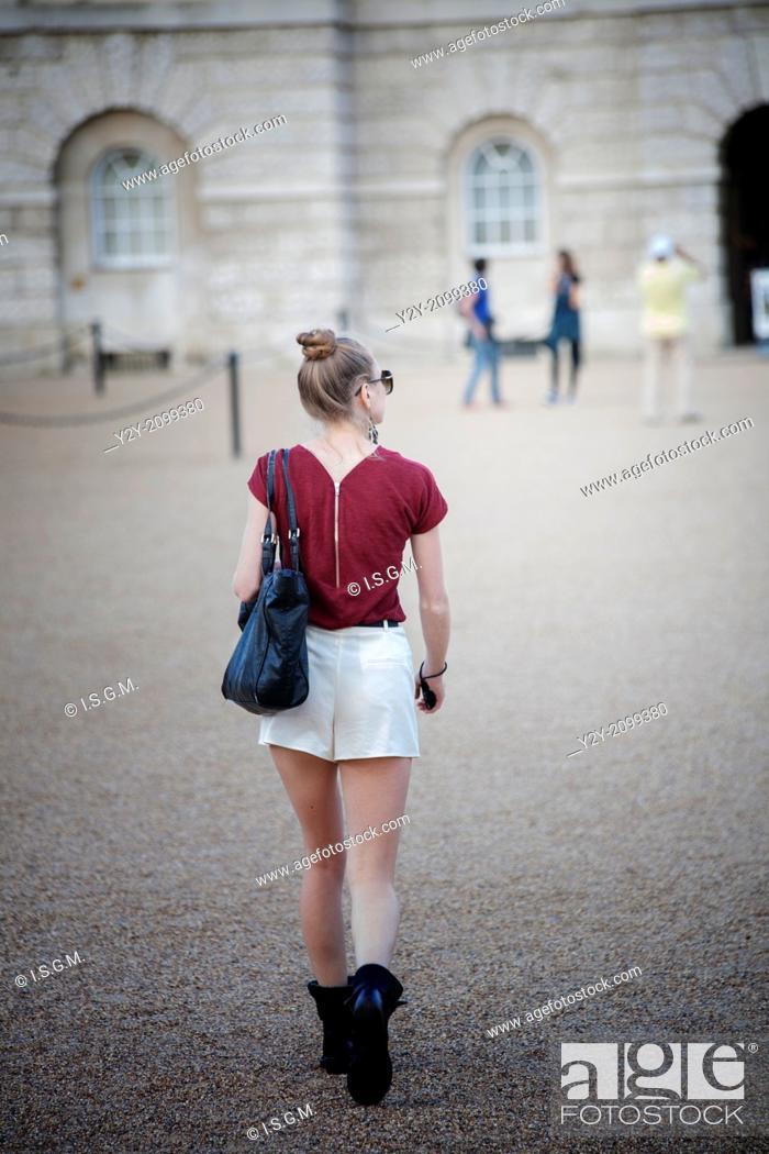 Stock Photo: Girl walking in London.