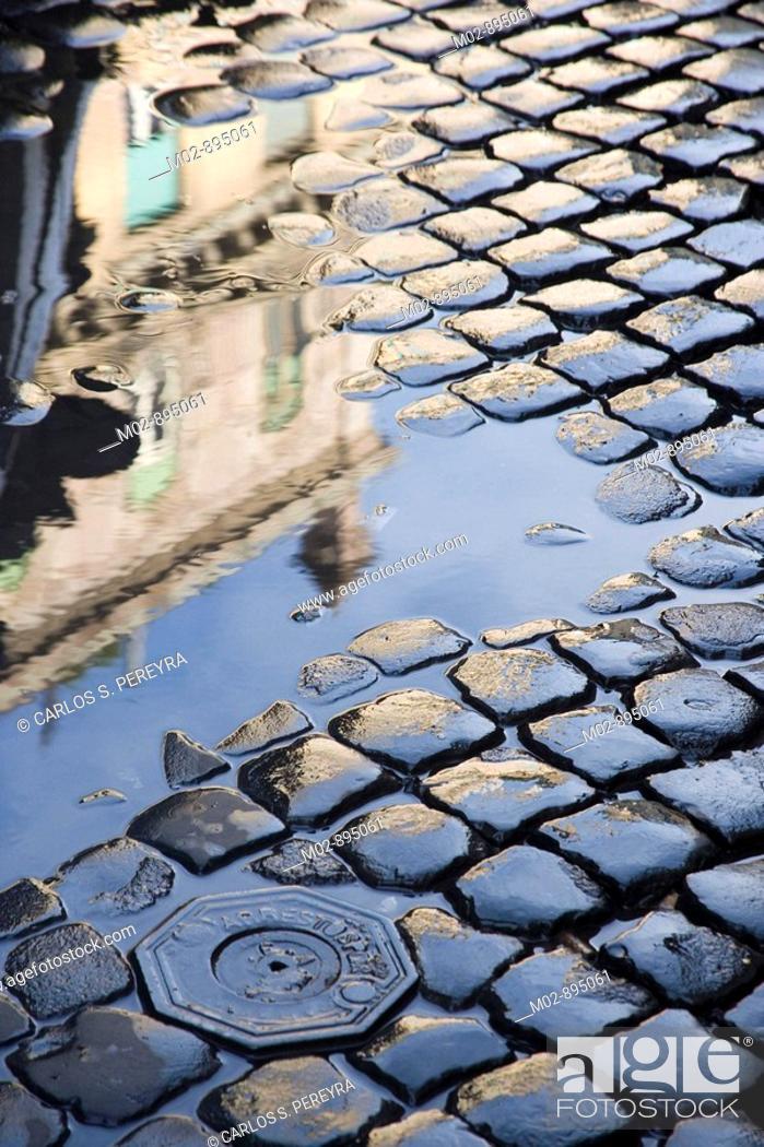 Stock Photo: View of Trastevere in Rome.