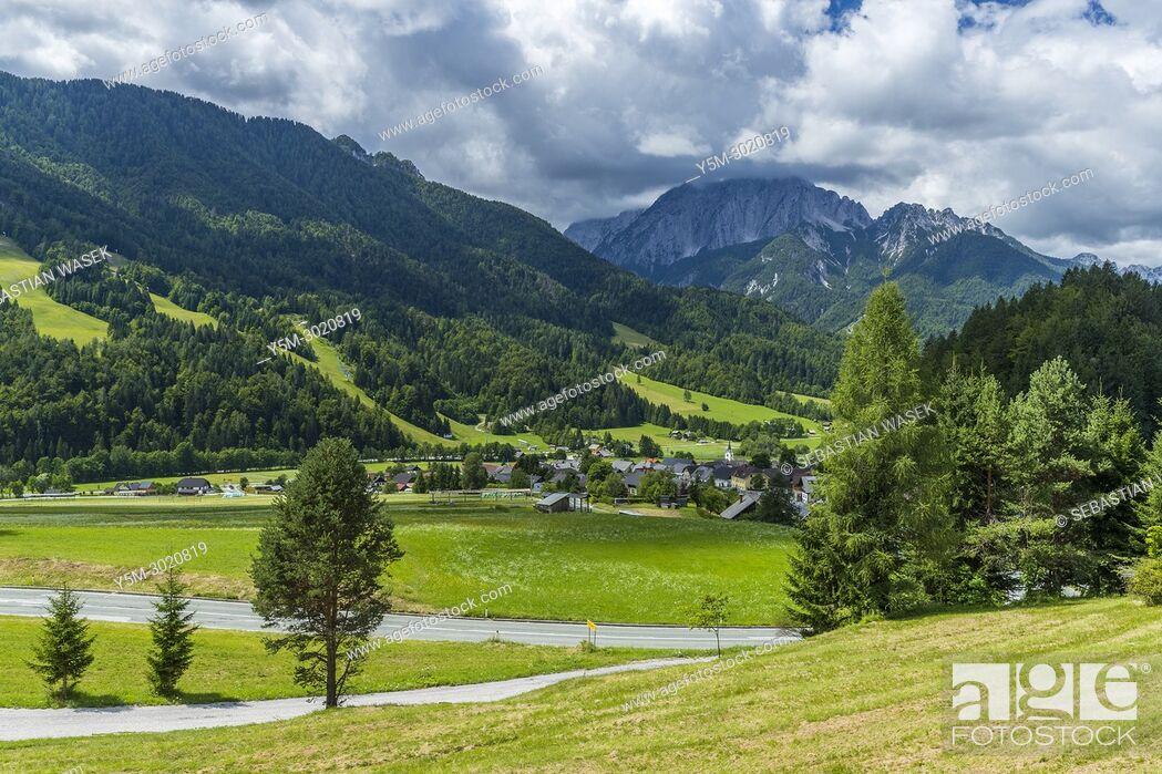Stock Photo: Upper Sava Valley, Podkoren, Upper Carniola, Slovenia, Europe.