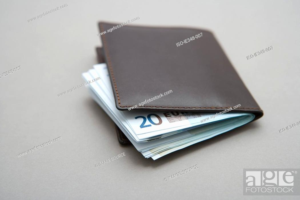 Stock Photo: Euro notes in a wallet.