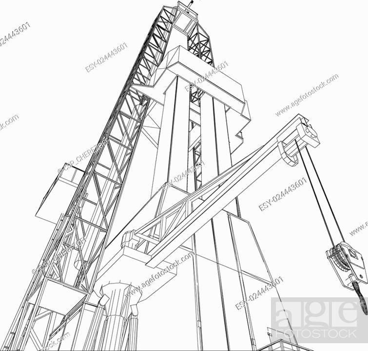 Sketches Of Oil Rigs Stock Photos And Images