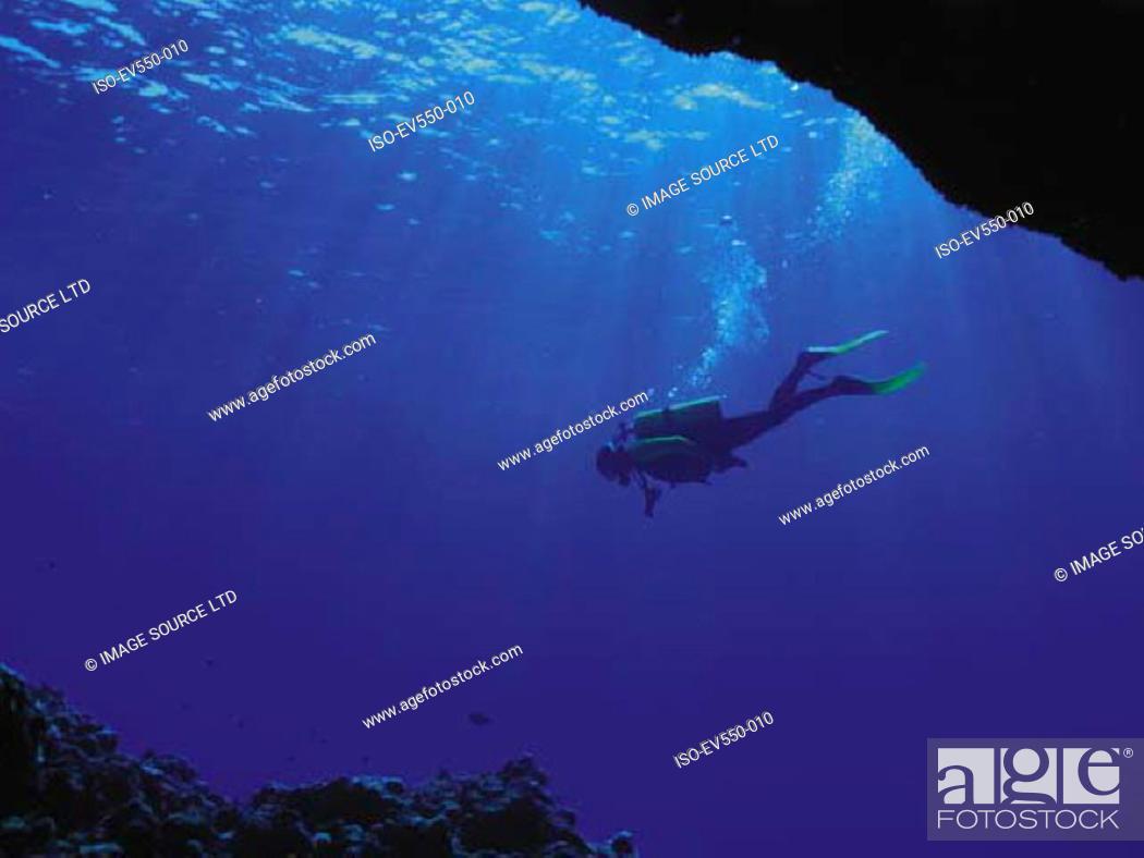 Stock Photo: Diver.