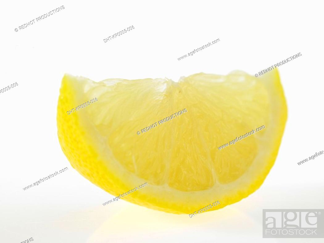 Stock Photo: Slice of Lemon.