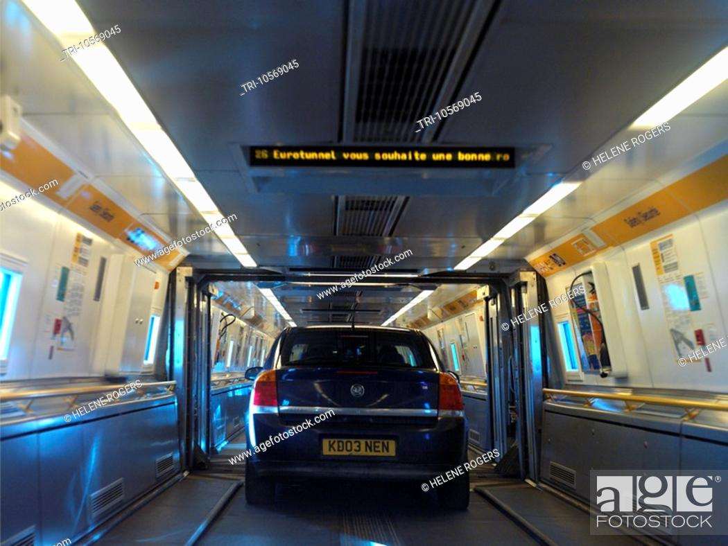 Eurotunnel Cars Onboard Shuttle Train Stock Photo Picture And