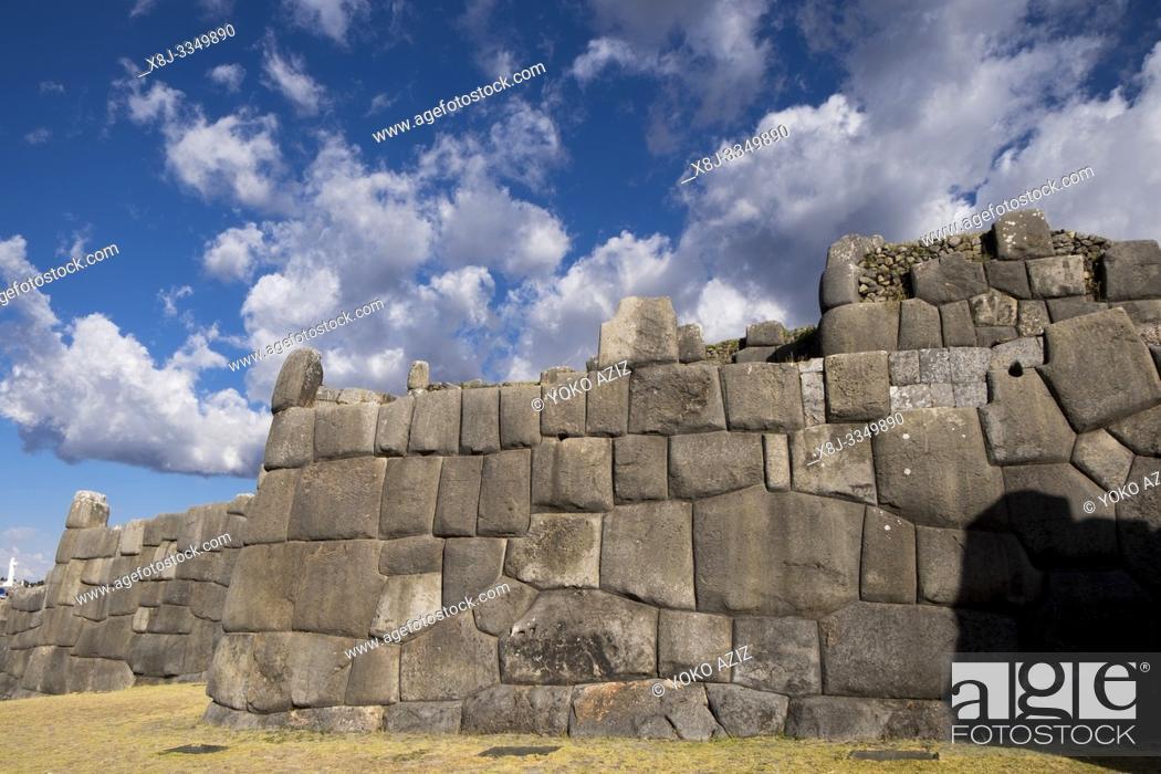 Stock Photo: Peru, Cusco, Saqsaywaman archaeological complex.