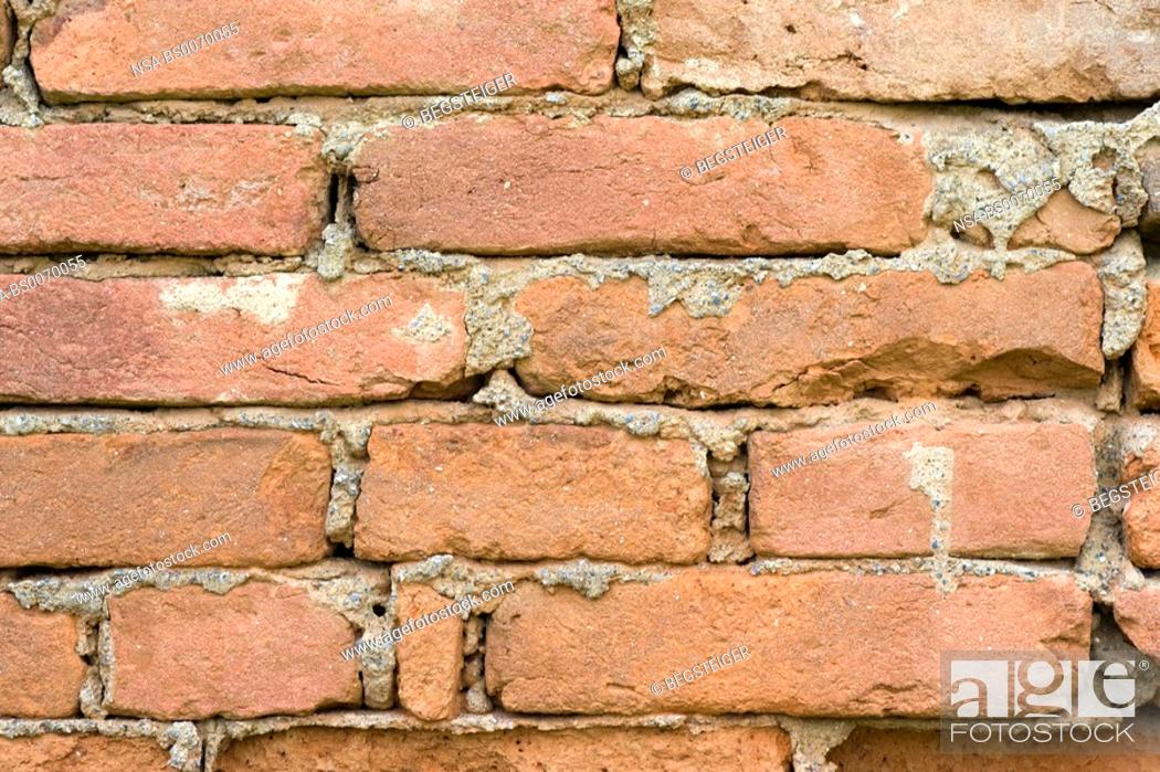 Stock Photo: brick wall.
