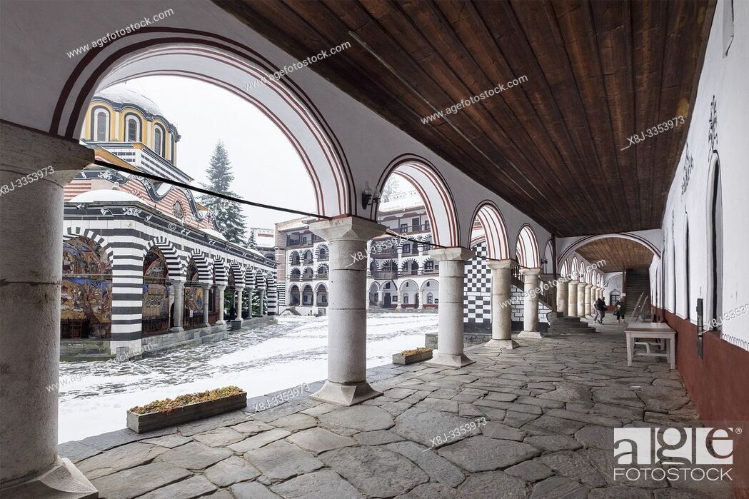 Stock Photo: Bulgaria, Sofia, Rila, Monastery.