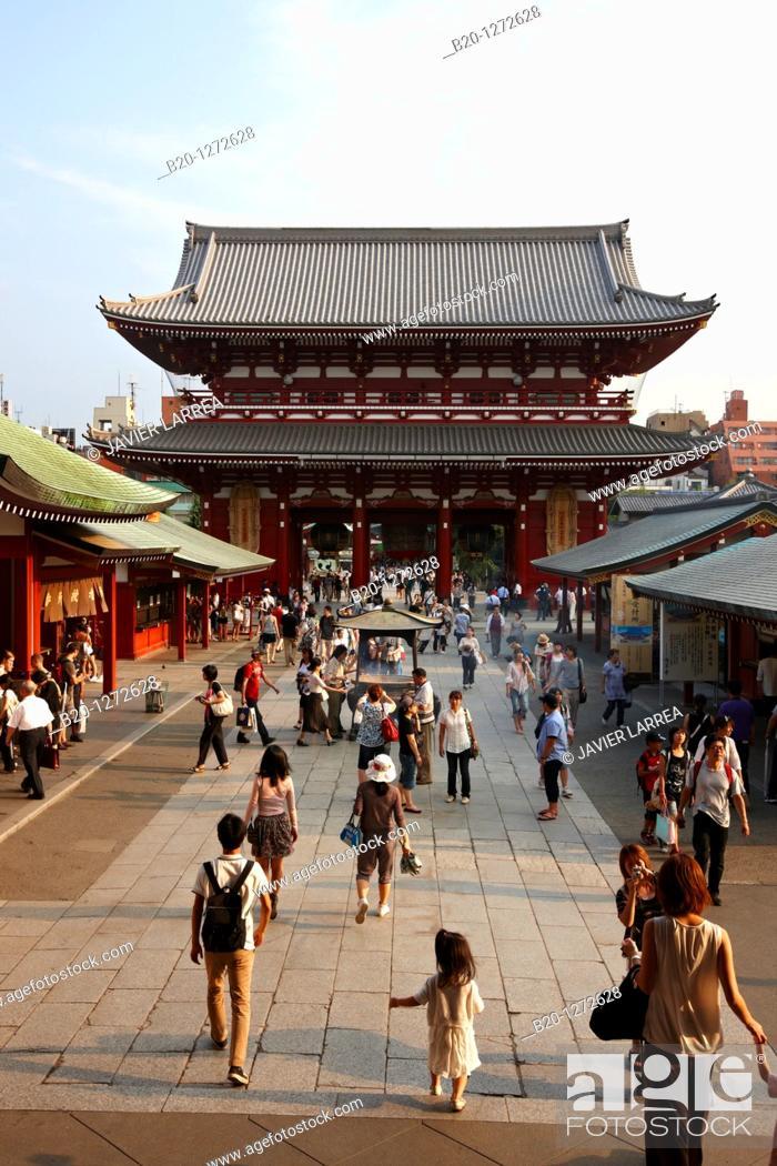 Stock Photo: Sensoji Temple, Asakusa, Tokyo, Japan.