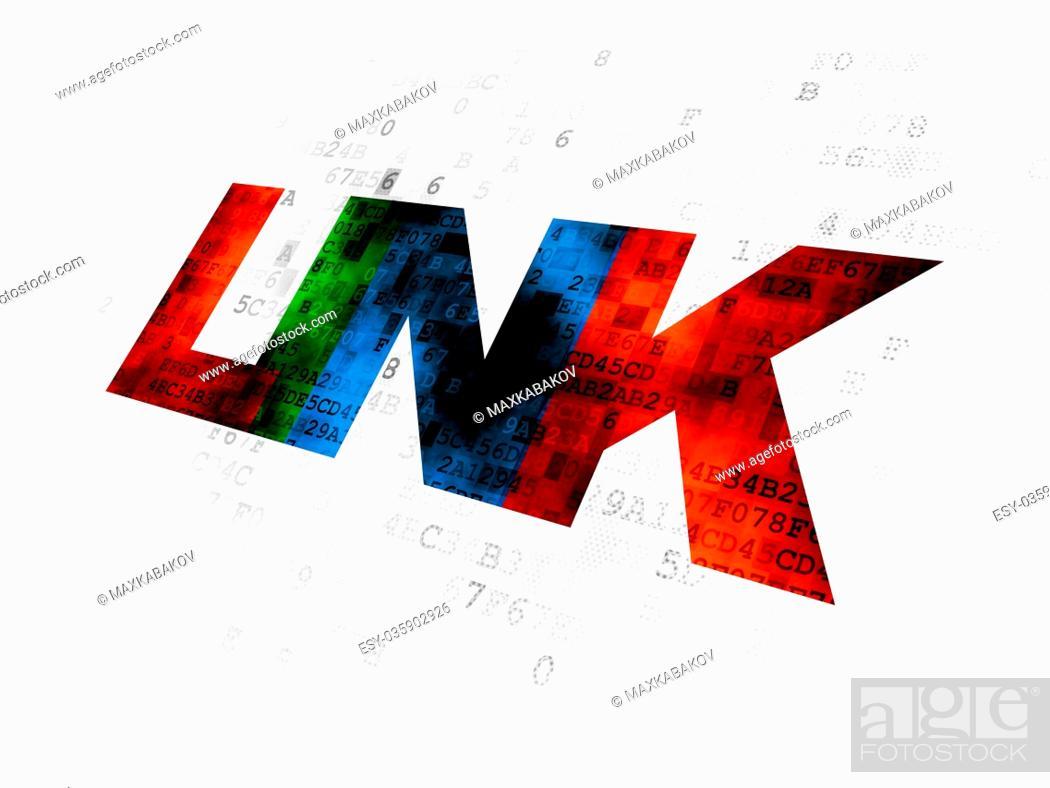 Stock Photo: Web development concept: Link on Digital background.