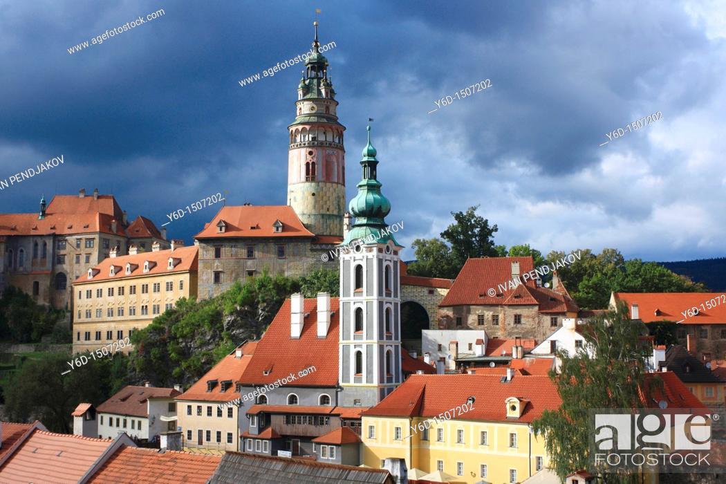 Stock Photo: Cesky Krumlov, Czech Republic.