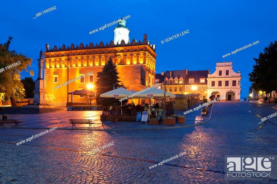 Stock Photo: Town hall, Sandomierz, Swietokrzyskie province, Poland, Europe.
