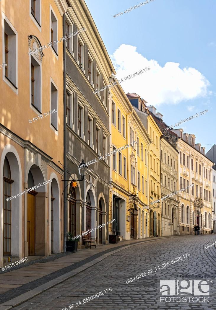 Stock Photo: Neißstraße, Görlitz (Goerlitz), Germany.
