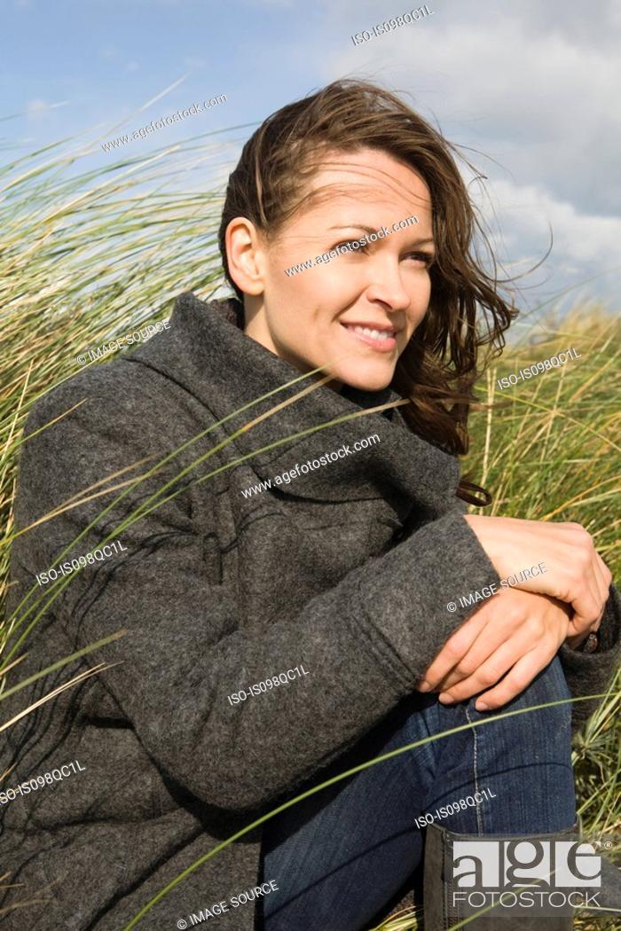 Stock Photo: Woman outdoors.