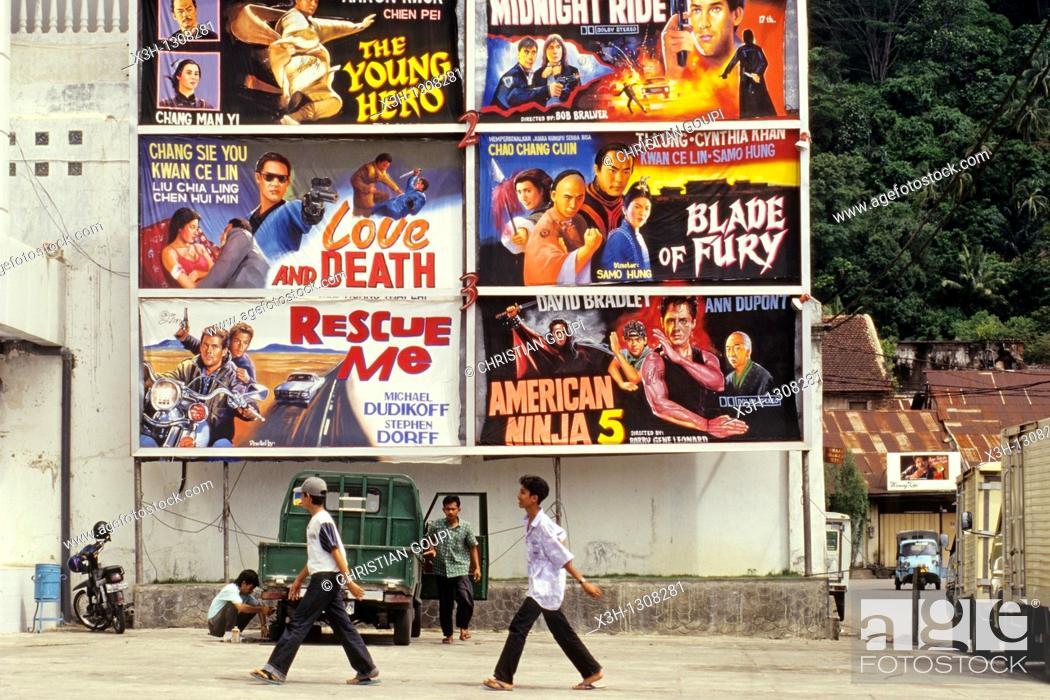 Stock Photo: film posters, Padang, Sumatra island, Republic of Indonesia, Southeast Asia and Oceania.
